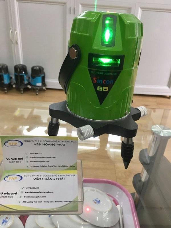 may-can-bang-laser-8-tia-xanh-sincon-g8